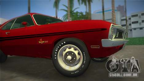 Dodge Dart Demon 340 1971 para GTA Vice City vista traseira