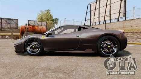 Ferrari 458 Italia Speciale Novitec Rosso para GTA 4 esquerda vista