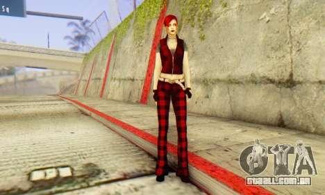 Red Girl Skin para GTA San Andreas por diante tela