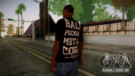 Room 401 T- Shirt para GTA San Andreas segunda tela