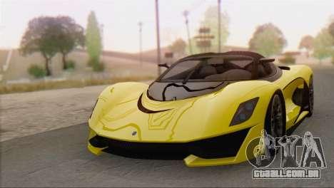 GTA V Turismo R para GTA San Andreas traseira esquerda vista
