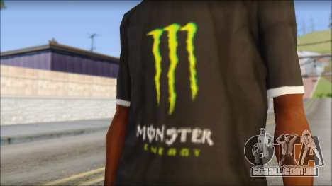 Monster T-Shirt Black para GTA San Andreas terceira tela