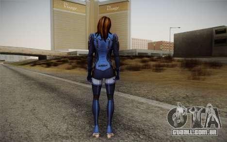 Ashley from Mass Effect 3 para GTA San Andreas segunda tela
