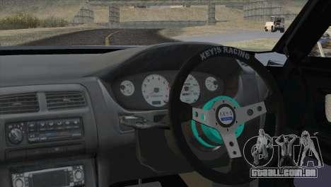 Toyota Chaser Tourer Stock v1 1999 para GTA San Andreas traseira esquerda vista