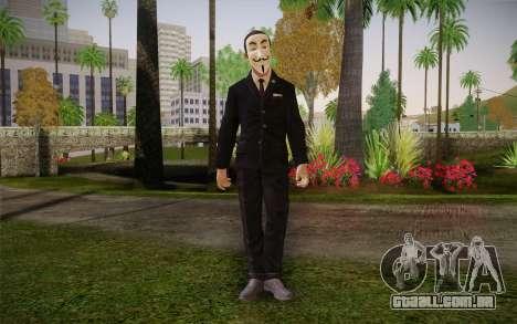 Anonymous Skin para GTA San Andreas