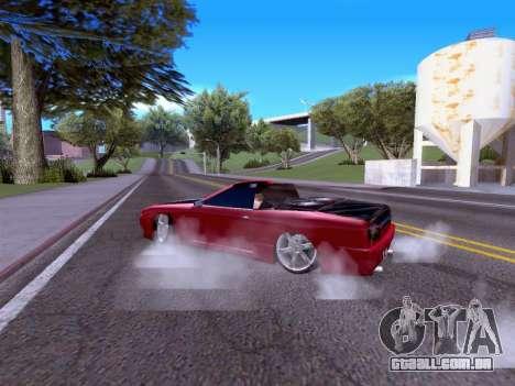 Elegy Cabrio HD para GTA San Andreas vista direita