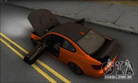 BMW M3 E92 Soft Tuning para GTA San Andreas vista inferior