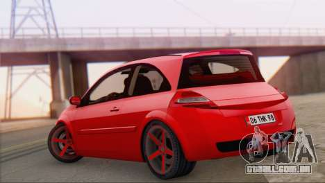 Renault Megane II HatchBack para GTA San Andreas esquerda vista