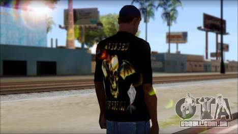 A7X Golden Deathbat Fan T-Shirt para GTA San Andreas segunda tela