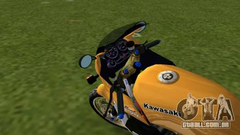 Kawasaki GPZ900R Ninja Tuned para GTA Vice City vista traseira esquerda