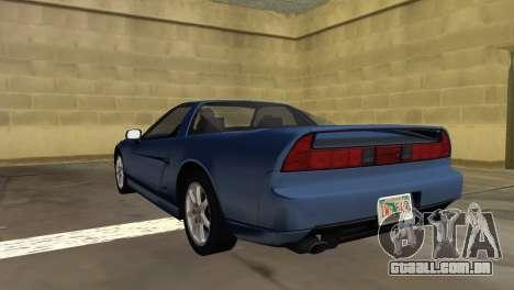 Acura NSX 1991 para GTA Vice City deixou vista