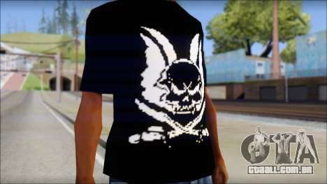 Skull T-Shirt Black para GTA San Andreas terceira tela