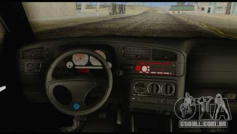 Volkswagen MK3 deLidoLu Edit para GTA San Andreas traseira esquerda vista