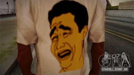 Yao Ming T-Shirt para GTA San Andreas terceira tela