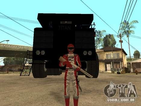Power Rangers Operation Overdrive para GTA San Andreas segunda tela