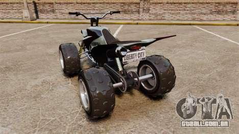 GTA V Nagasaki Blazer v2 para GTA 4 traseira esquerda vista