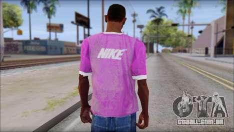 NIKE Pink T-Shirt para GTA San Andreas segunda tela