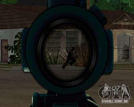 Sniper skope mod para GTA San Andreas