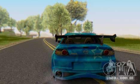 Mazda RX-8 VeilSide Blue Star para GTA San Andreas esquerda vista