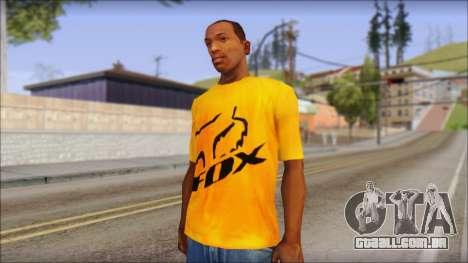 Cj Fox T-Shirt para GTA San Andreas
