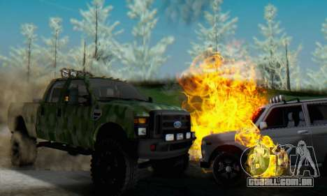 Ford F-250 Camo Lifted 2010 para GTA San Andreas vista interior