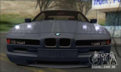 BMW E31 850CSi 1996 para GTA San Andreas traseira esquerda vista
