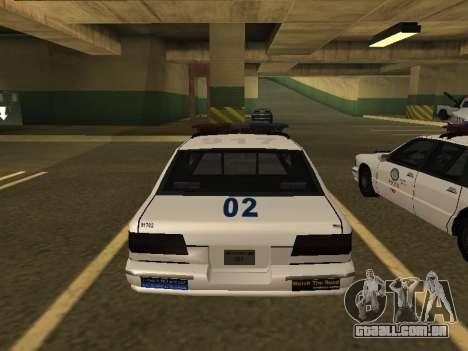 Police Original Cruiser v.4 para GTA San Andreas vista traseira