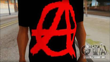 Anarhcy T-Shirt v1 para GTA San Andreas terceira tela