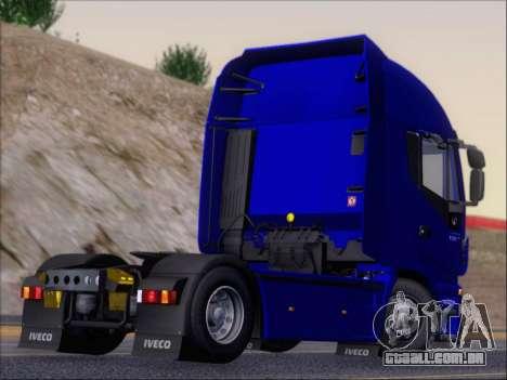 Iveco Stralis HiWay 560 e6 4x2 para GTA San Andreas vista traseira