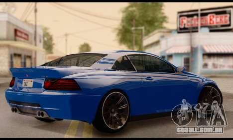 Ubermacht Zion XS 1.0 para GTA San Andreas esquerda vista