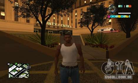 New HUD by Ptaxa1999 para GTA San Andreas