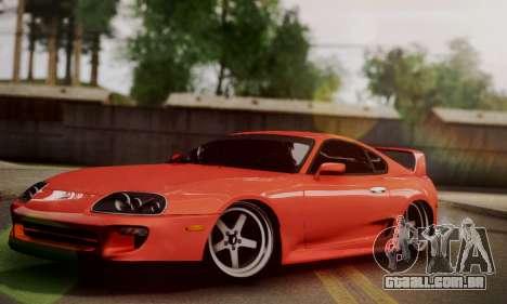 Toyota Supra Stock para GTA San Andreas traseira esquerda vista