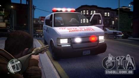 Israel MDA Ambulance para GTA 4 vista direita