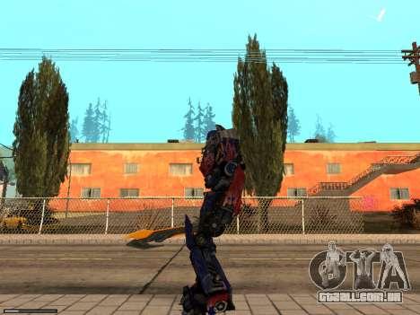 Optimus Sword para GTA San Andreas segunda tela