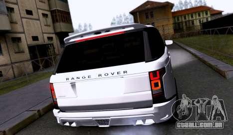 Land Rover Range Rover Startech para GTA San Andreas vista direita