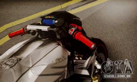 Kawasaki Z1000 2014 - The Predator para GTA San Andreas traseira esquerda vista