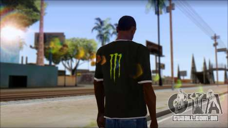 Monster T-Shirt Black para GTA San Andreas segunda tela