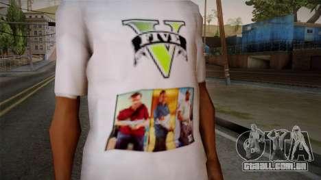 GTA 5 MFT T-Shirt para GTA San Andreas terceira tela