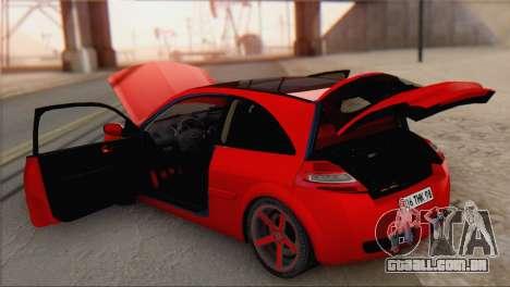 Renault Megane II HatchBack para GTA San Andreas vista traseira