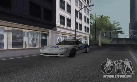 Chevrolet Corvette Z06 Police para GTA San Andreas