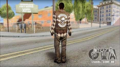 Biker from Avenged Sevenfold para GTA San Andreas segunda tela