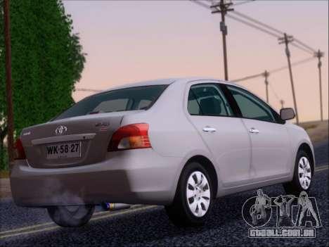 Toyota Yaris 2008 Sedan para GTA San Andreas vista direita