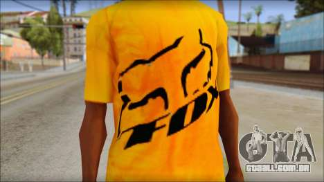 Cj Fox T-Shirt para GTA San Andreas terceira tela
