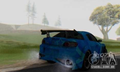 Mazda RX-8 VeilSide Blue Star para GTA San Andreas vista traseira