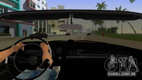Cadillac Eldorado para GTA Vice City vista interior