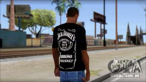 Jack Daniels Fan T-Shirt Black para GTA San Andreas segunda tela
