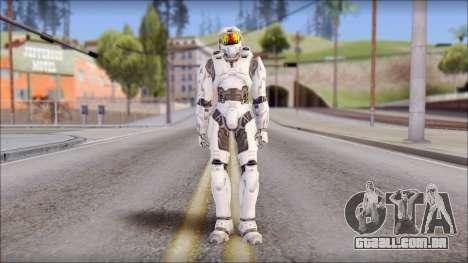 Masterchief White para GTA San Andreas