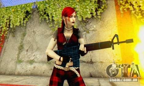 Red Girl Skin para GTA San Andreas quinto tela