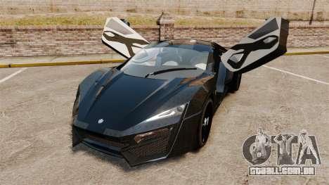 Lykan HyperSport Black para GTA 4 vista de volta