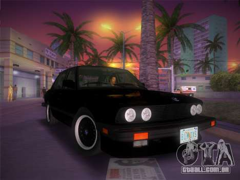 BMW 535i US-spec e28 1985 para GTA Vice City vista interior